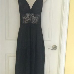 Adonna women small. Black lace breast Night Gown.